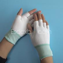 13针尼龙半指防护手套